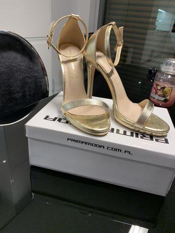 PrimaModa złote sandały klasyczne