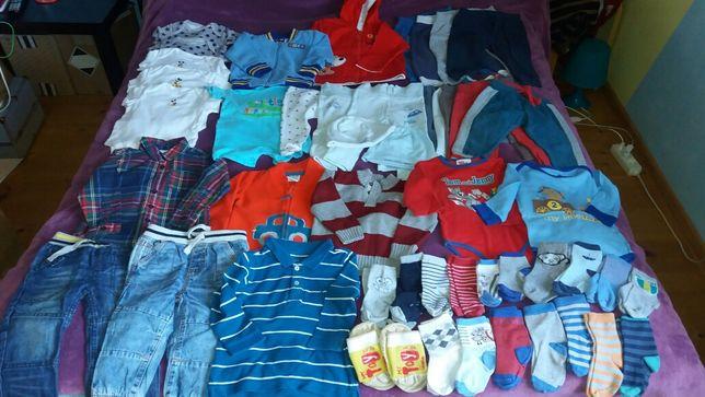 Zestaw spodnie,koszule,body,bluzy 68/74