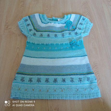 Sukienka sukieneczka ciepła na zimę 92 98
