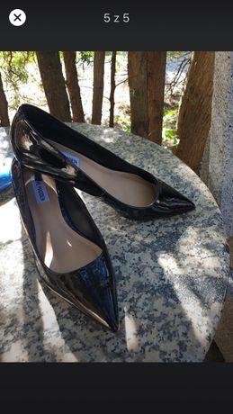 Czółenka, pantofle na niskiej szpilce Steve Madden rozmiar 39
