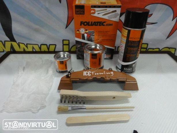 Tinta alta temperatura Foliatec de cor Cobre Vintage Metalizado para bombas / pinças travão, kit 3 c