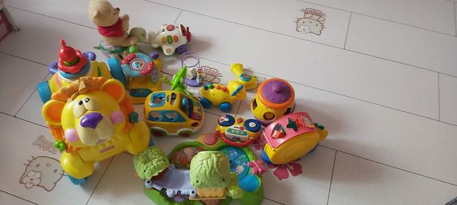Mega paka firmowych zabawek firm Fisher Price, Vtech, Eichhor