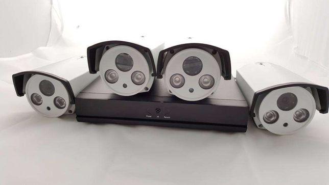 Sistema camera 4 canais exterior IP HD 720p NVR 1080p video vigilancia