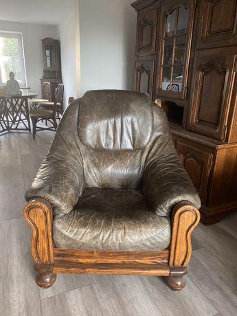 fotel skórzany ciemny