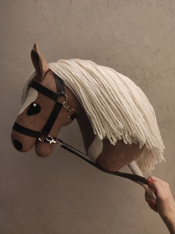 Hobby Horse/koń na kiju + ogłowie //kantar i wodze
