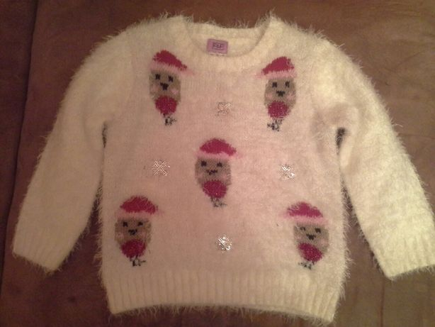 Новогодний свитер для девочки р.92