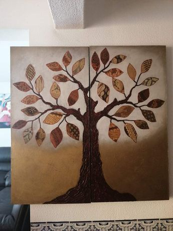 Quadro em tela pintado à mão