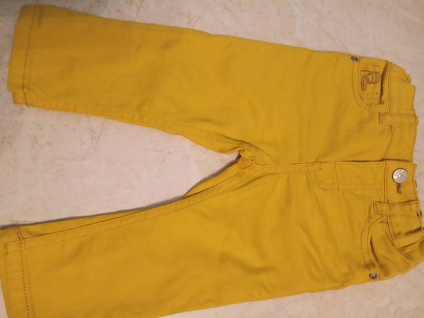 Spodnie żółte H&M 74