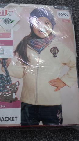 Nowa bluza polarkowa dziewczęca rozm. 86/92cm (12-24 mies.)