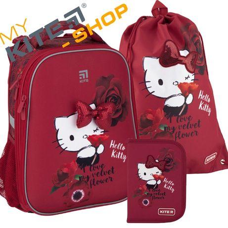 Школьный набор 3 в 1 Kite Рюкзак Пенал Сумка Для девочки КАЙТ