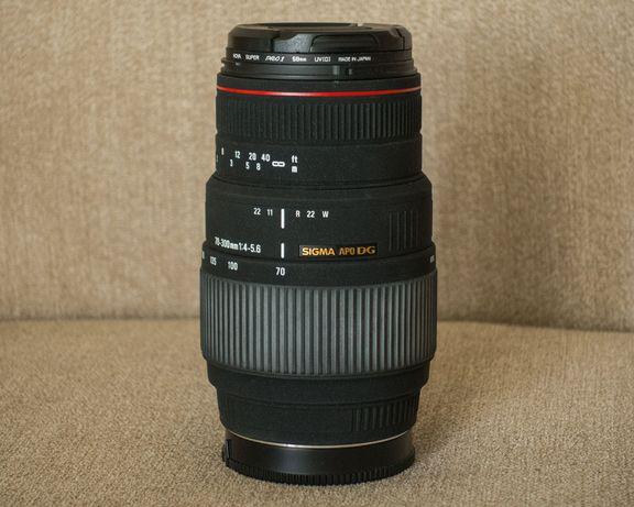 Obiektyw Sigma 70-300 mm APO DG MACRO Sony i filtr UV Hoya