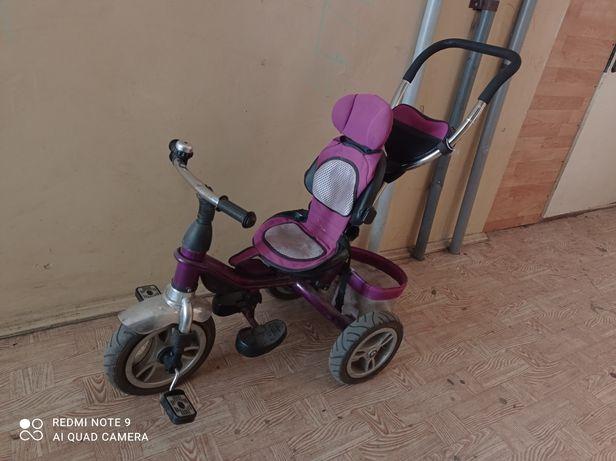 Велосипед с родительский ручкой