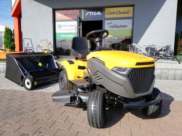 Najtańszy nowy traktor kosiarka z zamiatarką STIGA zbierak trawy liści