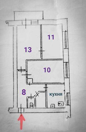 Продаю 3-комнатную квартиру. 2-ой Шевченковский микрорайон