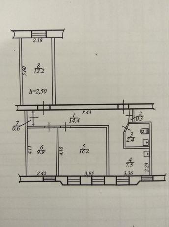 Продам 3комн. квартра (офис) на 1м этаже, красная линия! Нагорка!