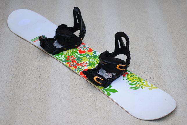 Deska Snowboardowa Snowboard Oxygen 139 cm Wiązania Atomic