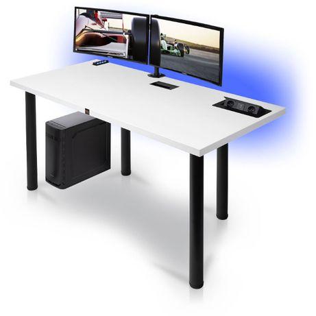 Biurko GAMINGOWE komputerowe gamer dla gracza LED Usb 3.0,HIT!Blat38mm