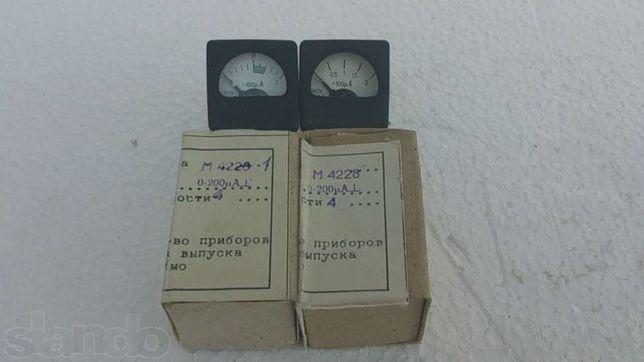 Микроамперметры М4228, М4228.1, М1690А.76, вольтметры М42300