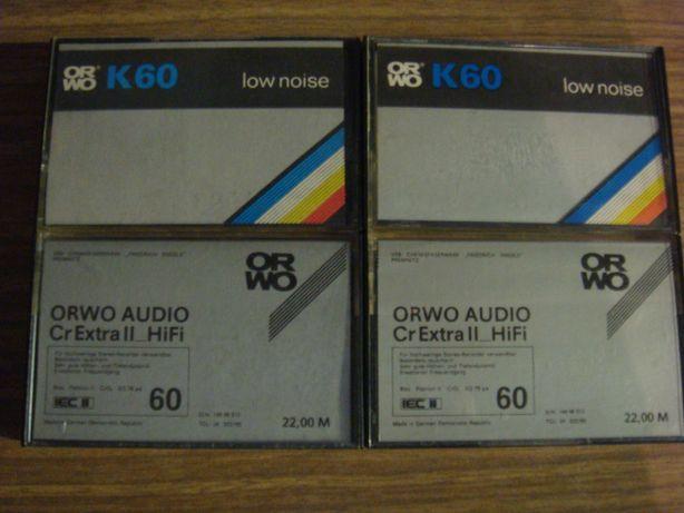 ORWO zestaw 4 kaset magnetofonowych chrom i żelazo super stan