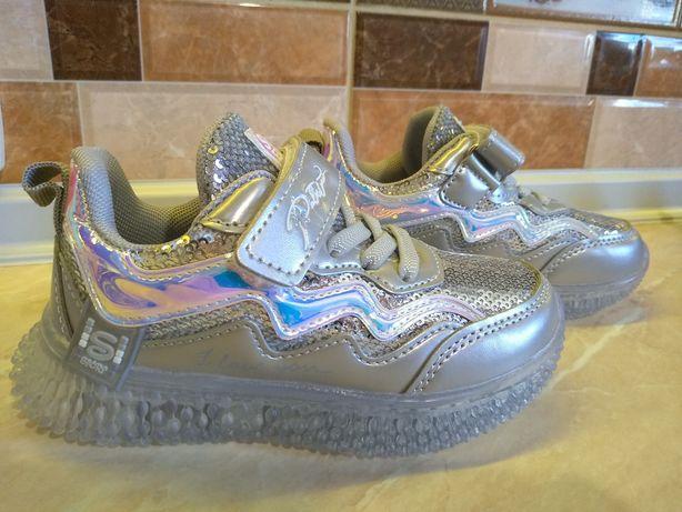Кроссовки для девочки с подсветкой, led, с мигалками 22,23,24,25
