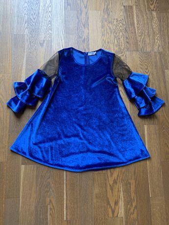 Плаття велюрове для дівчинки