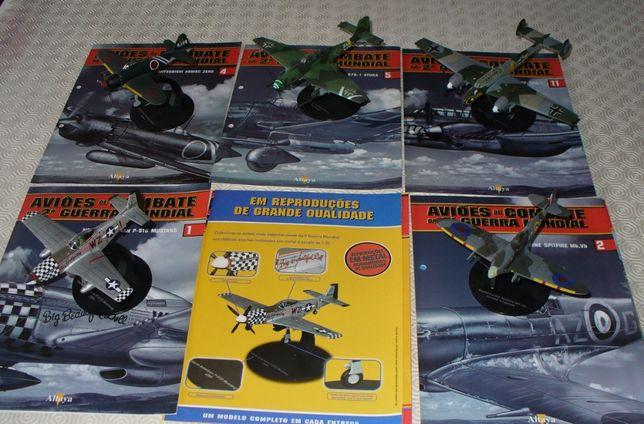 Aviões de combate 2ª guerra mundial 5 miniaturas