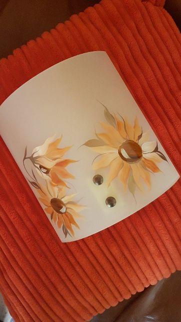 Lampa kinkietowa - ręcznie malowana