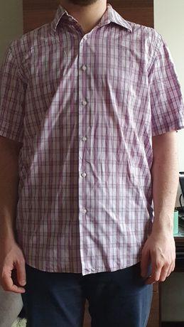 koszula HUGO BOSS różowa z krótkim rękawem