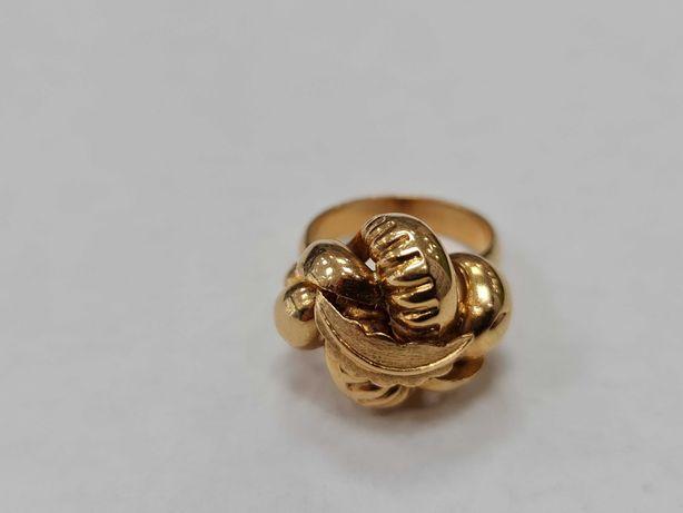 Wyjątkowy złoty pierścionek damski/ 750/ 8.06 gram/ R10.5/ Lite złoto