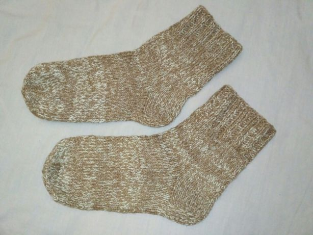 Вязаные носки из шерсти. 65 грн.