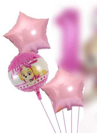 Psi patrol Balony foliowe zestaw skye urodziny
