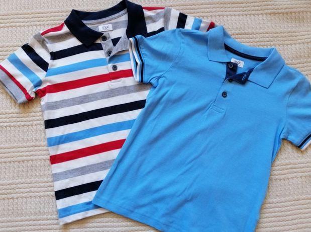 Dwa t-shirty F&F polo NOWE, rozm 122 cm 5-6 lat
