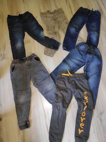 Ubrania chłopięce 110/116/122 spodnie bluzka sweter