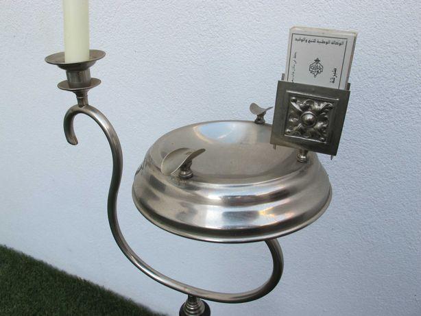 Cinzeiro de Pé Antigo - Castiçal Vintage
