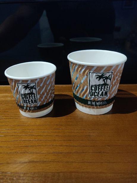 Продам бумажный стаканчик гофра для кофе 110 и 180 мл
