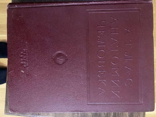 Раритет. 1942 г. Атлас анатомии человека. Мозг и нервная система.