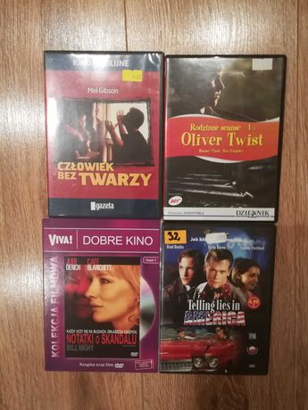 Notatki o skandalu, Człowiek bez twarzy, Oliver Twist - filmy DVD