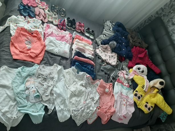 Zadbane ubranka 50szt rozmiary 86-98