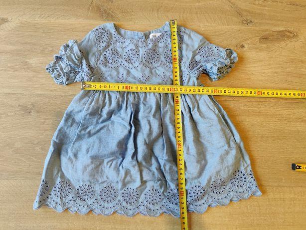 Sukienka Zara baby imitacja/kolor dżinsowy roz. 92  18-24mies