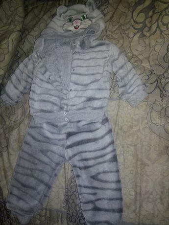 Детский очень теплый костюмчик