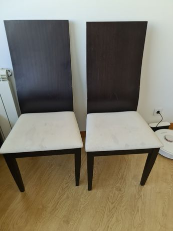 Cadeiras para sala de jantar wengue