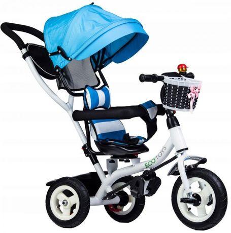 Rower rowerek trójkołowy wózek jeździk obracany Ecotoys