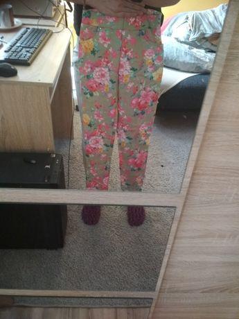 Spodnie na gumce kwiaty XXS