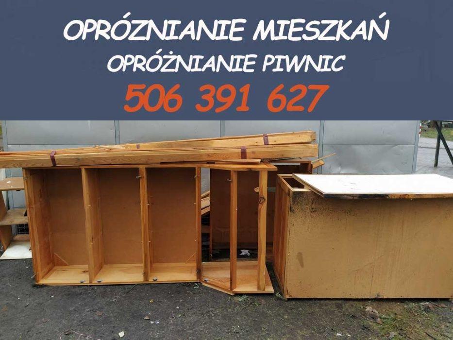Opróżnianie mieszkań sprzątanie piwnic Warszawa / wywóz mebli