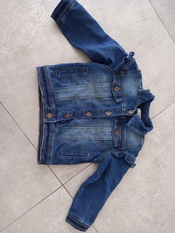 Katana jeansowa z falbankami