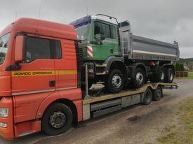 TRANSPORT, przewóz ciągników i maszyn Pajęczno Laweta 16 ton