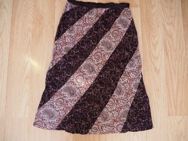 Letnia spódnica damska odcienie brązu i beżu Mango