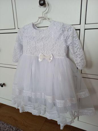 Sukienka chrzest wesele  święta komplet do chrztu, buciki