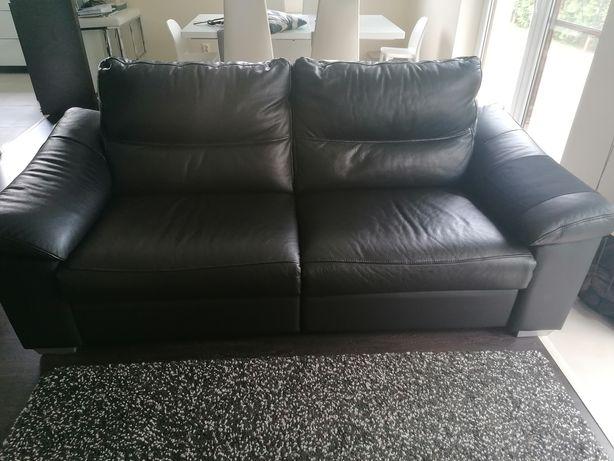 Skórzana sofa, kanapa z funkcją relaks