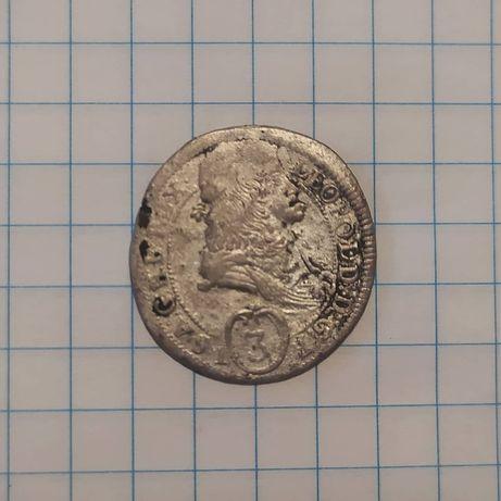 Серебро 3 крейцера 1693 года